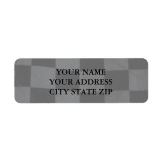 Zielflagge-Adressen-Etikett