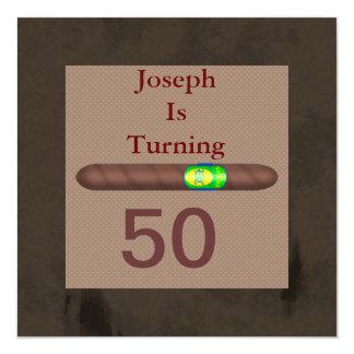 Zigarren-Einladungen VATERTAG der ZWECK der Männer Quadratische 13,3 Cm Einladungskarte