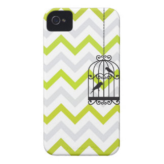 Zigzag Blackberry vert vintage de Chevron de cage Coques Case-Mate iPhone 4