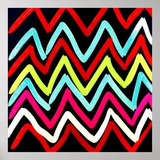 Zigzag tribal peint coloré de Chevron d'amusement