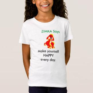 ZIMKA sagen die Sportkleidungs-Geldstrafe-Jersey-T T-Shirt