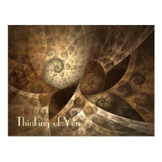 Zimt-u. Ingwer-Fraktal-Kunst Postkarte