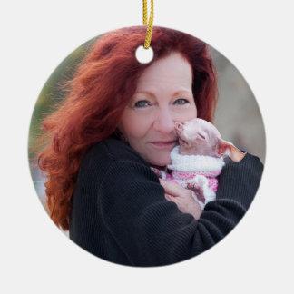 Zimt u. Rosie Verzierung Rundes Keramik Ornament