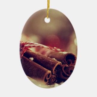 Zimtstangen Frohe Weihnachten Keramik Ornament