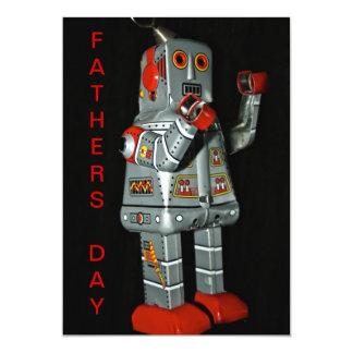 Zinn-Roboter-Vatertags-Karte 12,7 X 17,8 Cm Einladungskarte