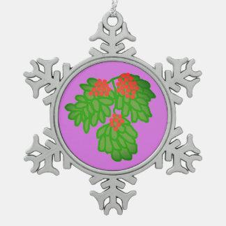 Zinn-sammelbare Baum-Verzierung Schneeflocken Zinn-Ornament