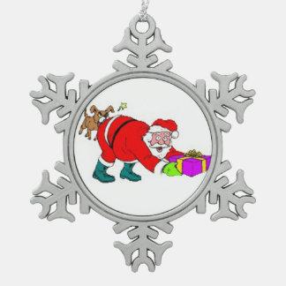 Zinn-Schneeflocke-Verzierung/Sankt Schneeflocken Zinn-Ornament