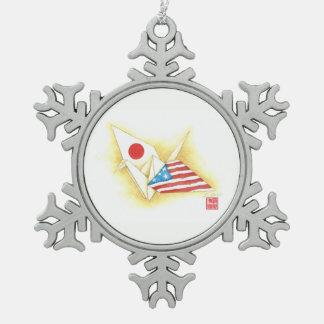 Zinn-Schneeflocke-Verzierung ~ Schneeflocken Zinn-Ornament