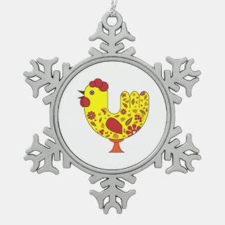 Zinn-Schneeflocke-Verzierungs-Hahn Schneeflocken Zinn-Ornament