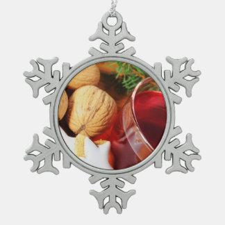 Zinn Schneeflocken Ornament frohe Weihnachten
