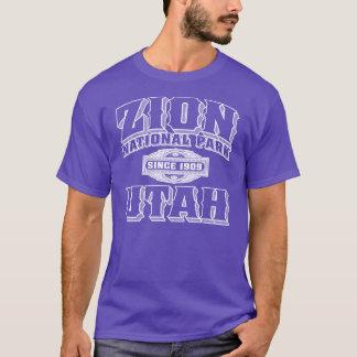 Zion alte Art-Weiß-Kontur T-Shirt