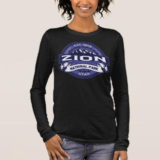 Zion Mitternachtsdunkelheit Langarm T-Shirt