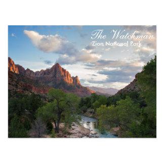 Zion Nationalpark - die Wächterpostkarte Postkarte