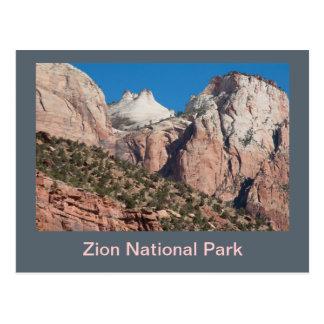 Zion Nationalpark-Klippen Postkarte