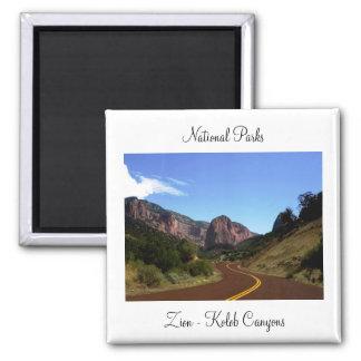 Zion Nationalpark-Magnet Quadratischer Magnet
