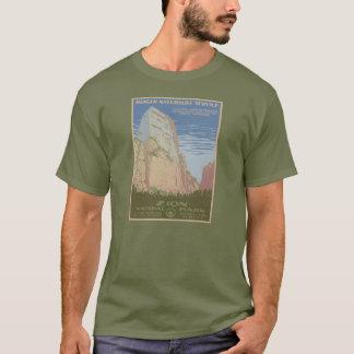 Zion Nationalpark-Vintages Plakat-Shirt T-Shirt