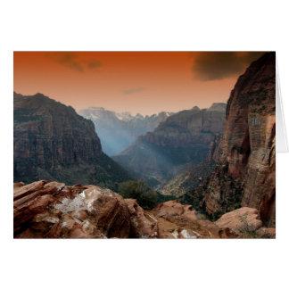 Zion Park, fantastische Naturlandschaft Utahs Karte