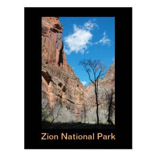 Zion Schlucht im Vorfrühling Postkarte