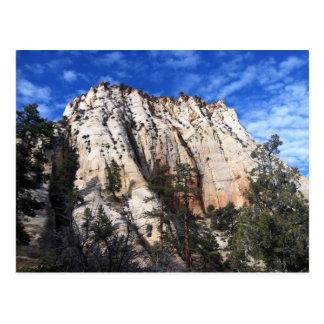 Zions Nationalpark-Postkarte Postkarte
