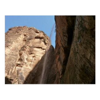 Zions weinender Felsen an Zion Nationalpark Postkarte