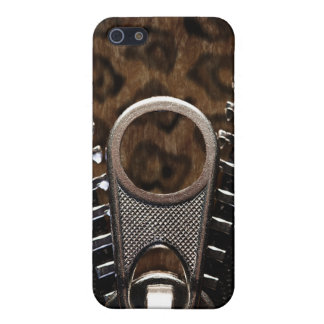 Zippered Leopard-Pelz iPhone 5 Schutzhülle