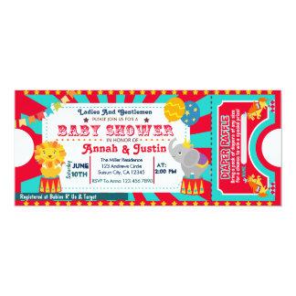 Zirkus-Babypartyeinladung - Windel Raffle 10,2 X 23,5 Cm Einladungskarte