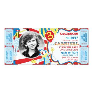 Zirkus-Clowns-Geburtstags-Einladung 10,2 X 23,5 Cm Einladungskarte