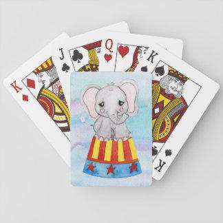 Zirkus-Elefant-Spielkarten Spielkarten