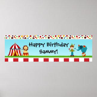 Zirkus-Geburtstags-Party-Fahne 40x12 Poster
