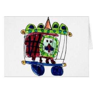 Zirkus-Löwe • Daneille Brito, Alter 6 Mitteilungskarte