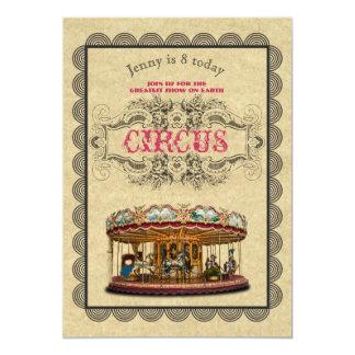 ZIRKUS Party Einladungs-elegantes Vintages Thema Karte