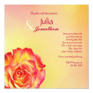 Zirkus-Rosen-Frühling färbt Hochzeits-Einladung Quadratische 13,3 Cm Einladungskarte