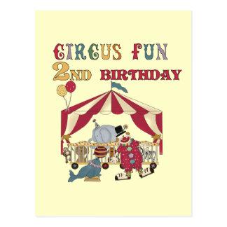 Zirkus-Spaß-2. Geburtstags-T-Shirts und Geschenke Postkarte