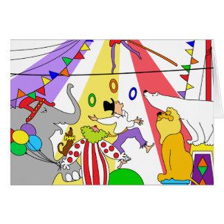Zirkus, Zirkus! Alles Gute zum Geburtstag! Grußkarte