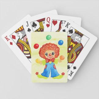 Zirkusclown-Spielkarten Spielkarten