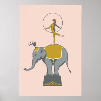 Zirkusnummer-Plakat Poster