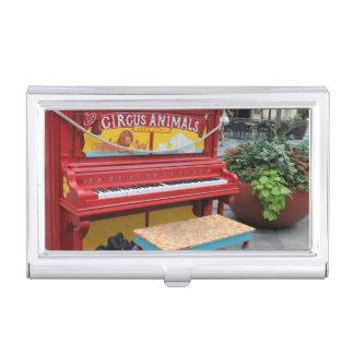 Zirkustier-Klavier Visitenkarten-Schatulle