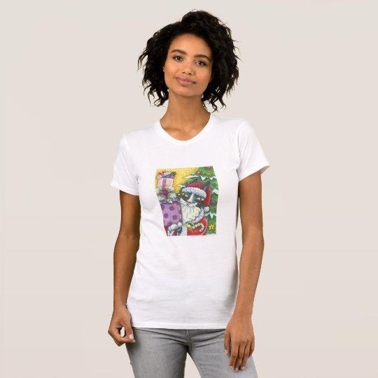 Zischen N Fitz JERSEY-T-SHIRT CAT SANKT WEIHNACHTS T-Shirt