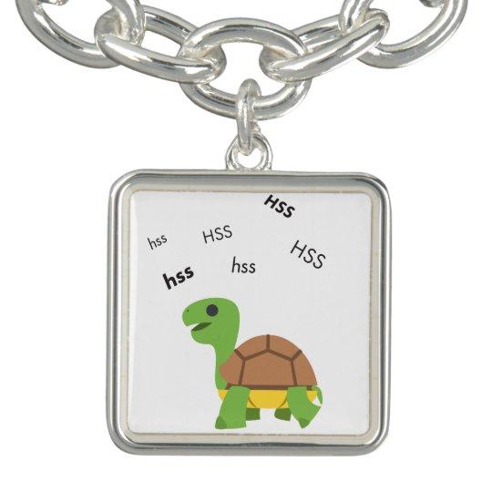 Zischen-Schildkröte niedliches Emoji Charm Armband