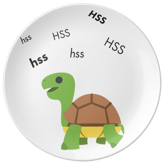 Zischen-Schildkröte niedliches Emoji Porzellanteller