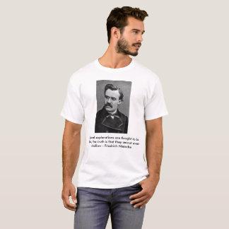 Zitat 2 Friedrich Nietzsche T-Shirt