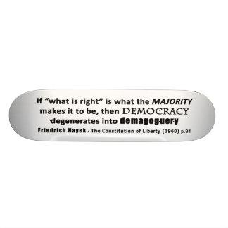 Zitat-Demokratie u. Demagogie Friedrich Hayek Skateboard Deck