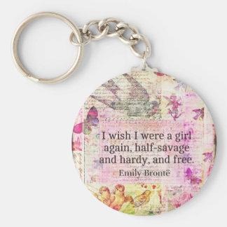 Zitat Emilys Bronte über Freiheit Standard Runder Schlüsselanhänger