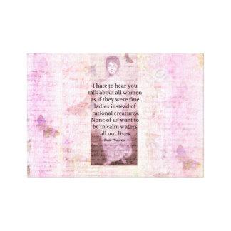 Zitat-Ermächtigungsfrauen Jane Austens Leinwand Drucke