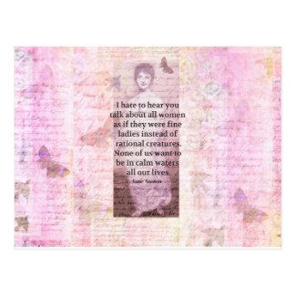 Zitat-Ermächtigungsfrauen Jane Austens Postkarte