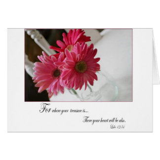 Zitat-Grußkarte der rosa Gerberagänseblümchen Karte