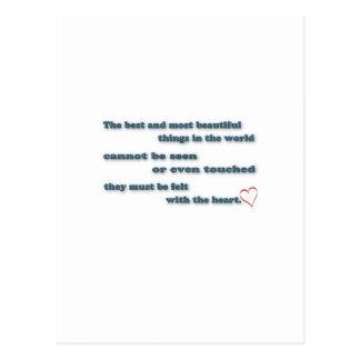 Zitat inspirieren - das Beste und das am Postkarten