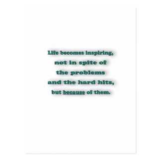 Zitat inspirieren - das Leben wird, inspirierend, Postkarte