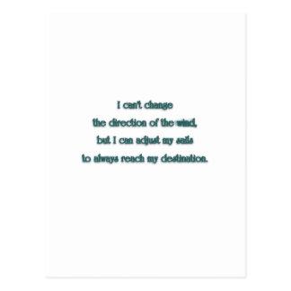 Zitat inspirieren - ich kann die Richtung nicht Postkarte