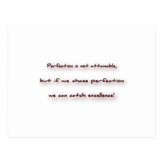 Zitat inspirieren - Perfektion ist nicht… Postkarten